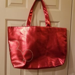 NWOT Red with Rhinestone Mickey Mouse Disney Tote